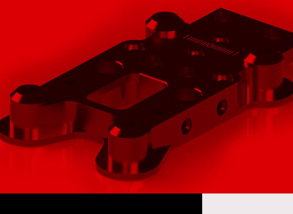 Bantle 3D Render rot eingefärbt