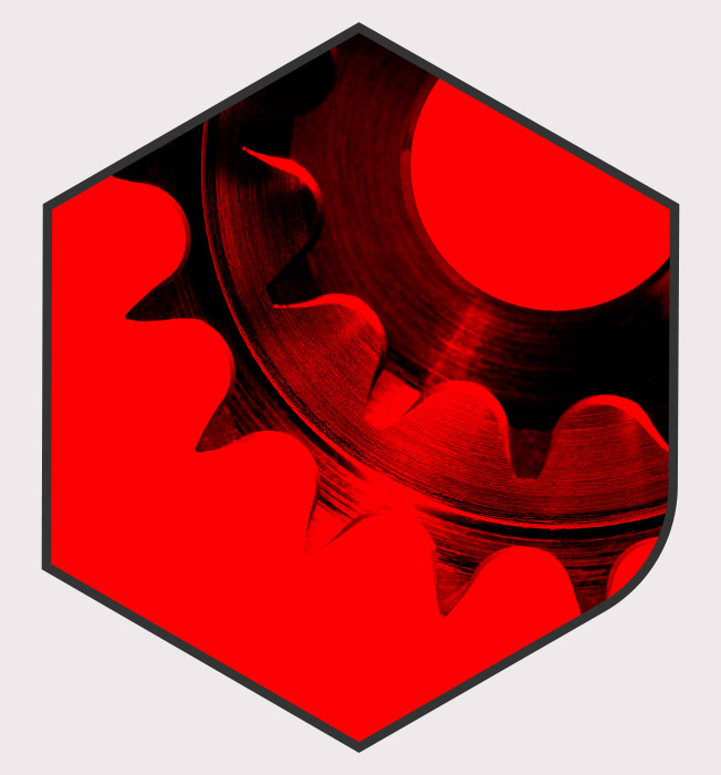 Bantle 3D Zahnrad Rot